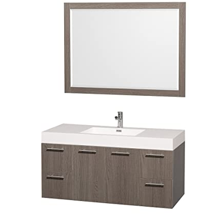 Astounding Wyndham Collection Amare 48 Inch Single Bathroom Vanity In Home Interior And Landscaping Spoatsignezvosmurscom