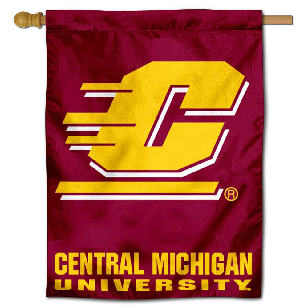 Central Michigan University Chippewas House Flag College Flags and Banners Co
