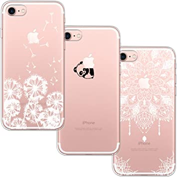 3 Pack] iPhone 7 Case, iPhone 8 Case, Blossom01 Ultra Thin Soft Gel TPU Silicone Case Cover with Cute Cartoon for Apple iPhone 7 / 8: Amazon.es: Electrónica