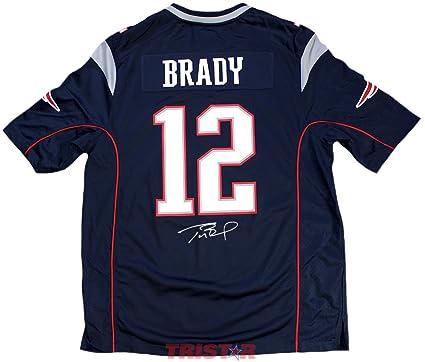 Tom Brady Signed Autographed New England Patriots Nike Replica Jersey  TRISTAR COA efd1fe5c2