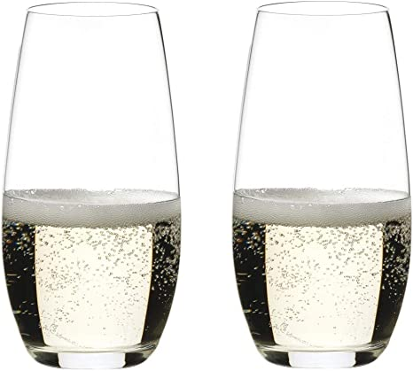 Set of 2 Fine Crystal Flute Glasses Riedel O Wine Tumbler Champagne