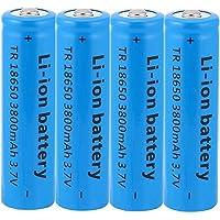 18650 Batterij, 18650 Batterij Oplaadbaar 18650 Li-Ion Battery 3.7v 3800mah 18650 Batterijen Knop Top Grote Capaciteit…