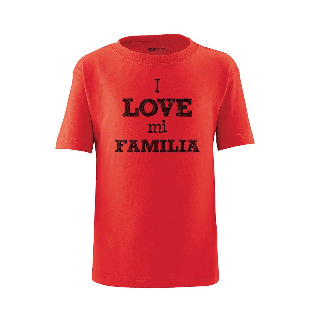 Apericots I Love Mi Familia Spanish My Family Cute Short Sleeve Toddler Tee Shirt