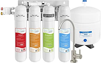 50 GPD METPURE Versatile Reverse Osmosis Water Filtration System Under Sink Water Filter For Clean Drinking Water /& Simple Set Up 4 Stage Quick Twist Filters RO System With Faucet