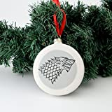 Game of Thrones Let it Snow Ornament with Direwolf