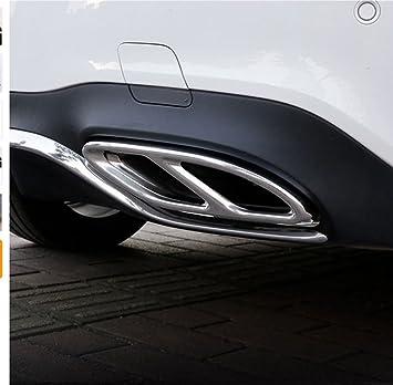 2017/Auto Styling Teile Auto Zubeh/ör AMG Edelstahl Auspuff Verkleidung f/ür Mercedes Benz GLC A B C E Klasse W205/Coupe-W176/W246/2016