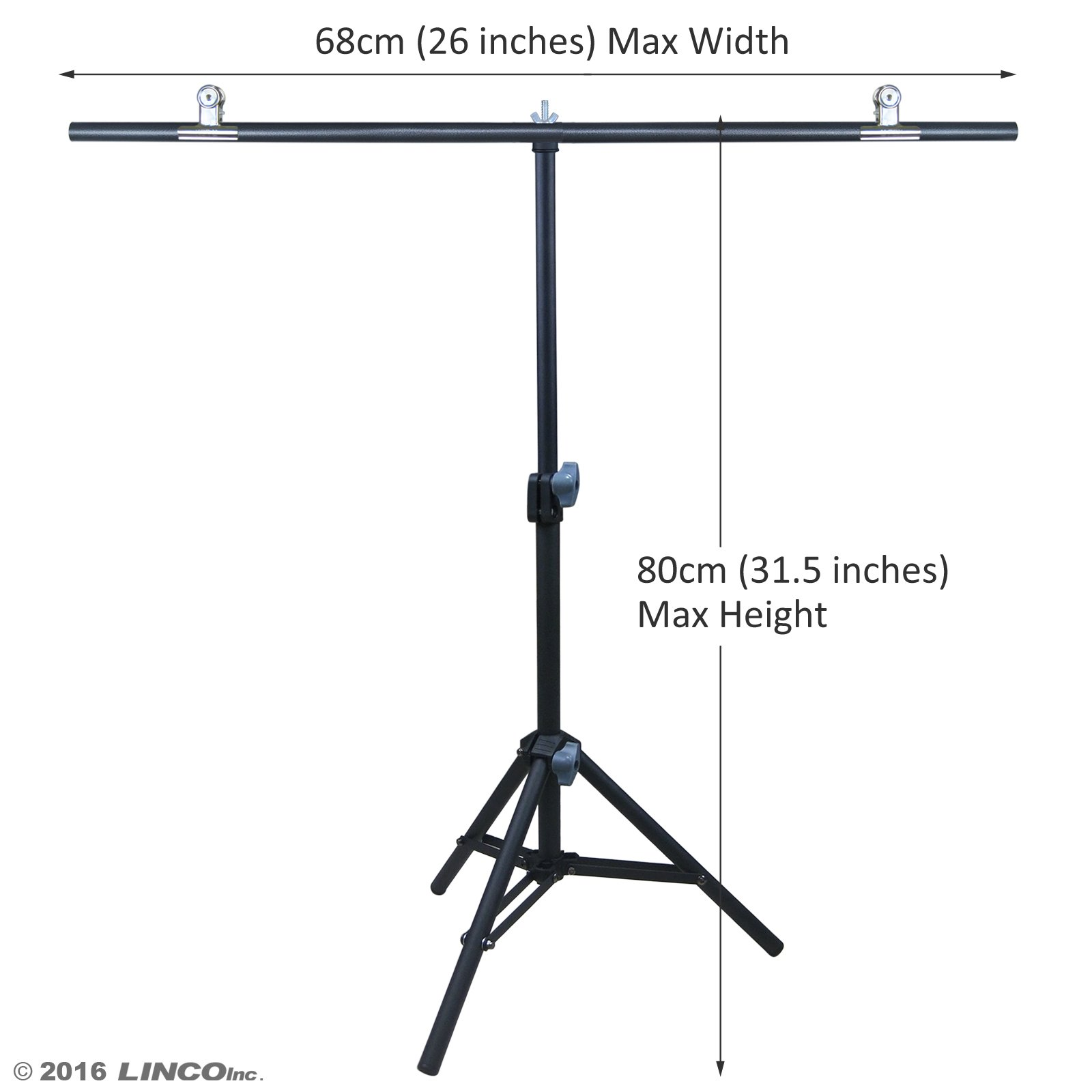 Linco Lincostore Photography PVC Backdrop Background Small Support Stand System Metal 8812B 68cm Wide 80cm High