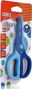 Deli Blue Full Plastic Scissors