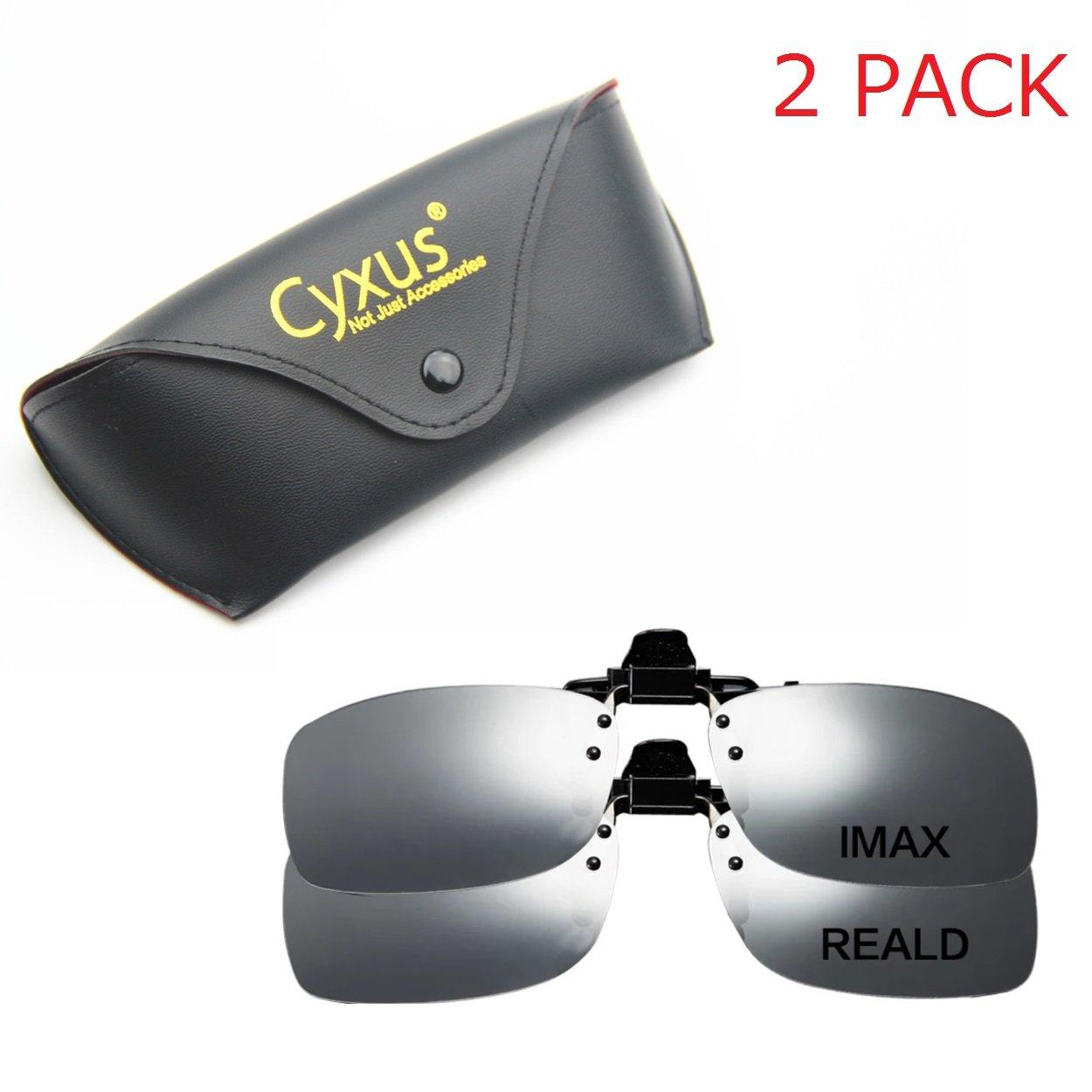 Cyxus 3D Clip-on Glasses For TV/Cinema/Movie Eyewear (RealD & IMAX 2 Pack)