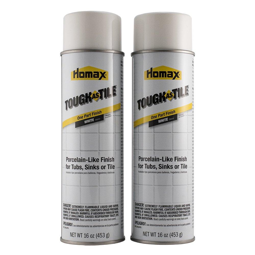 Homax 041072031578 Tub and Tile Refinishing Epoxy One Part Aerosol, White, 32 oz, 3157 by Homax
