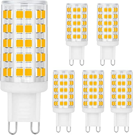 6 pk G9 Led Bulb,6W ,Hansang Chandelier Light Bulbs 60W Halogen Bulb Replacement