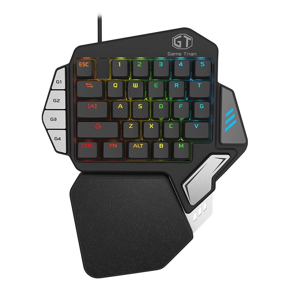 MOSTOP Gaming Keyboard One-Handed Keyboard Single Hand Keyboard T9X One-Handed Mechanical Keyboard RGB Gaming Mechanical Keypad For LOL WOW DOTA 2 PUBG CF