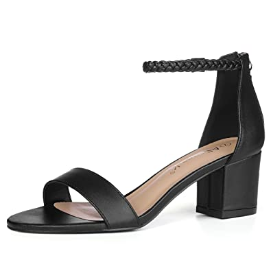 d0798436f022 Allegra K Women s Braided Block Heel Sandals Black 3 UK Label Size 5 US