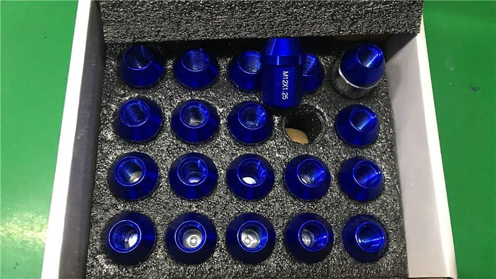 LIDAUTO Radmuttern Rad Muttern Diebstahlsicherungsschraube Sechseckiger legierter Stahl M12 /× 1,5//1,25 35MM
