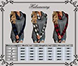 Haloumoning Womens Fall Cowl Neck Oversized Long