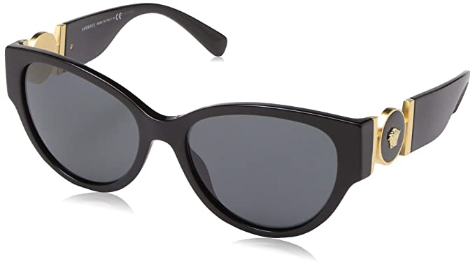 Versace 0VE4368 Gafas de sol, Black, 56 para Mujer: Amazon ...