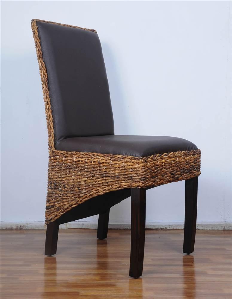 International Caravan Furniture Piece Salma Abaca Dining Chair Set of Two