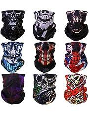 ACBungji Magic Skull Masker Motorfiets Outdoor Sport Naadloze Buis Half Gezichtsmasker Multifunctionele Wrap Hoofdband Hoofddeksels 8 STKS 9 STKS
