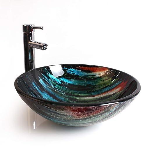 LVLUOYE Lavabo sobre Encimera,lavabos De Baño sobre Encimera ...