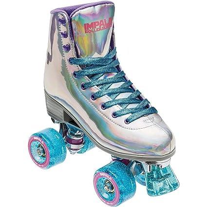 Roller Skates Amazon Com >> Impala Rollerskates Girl S Impala Quad Skate Big Kid Adult Holographic 10 M