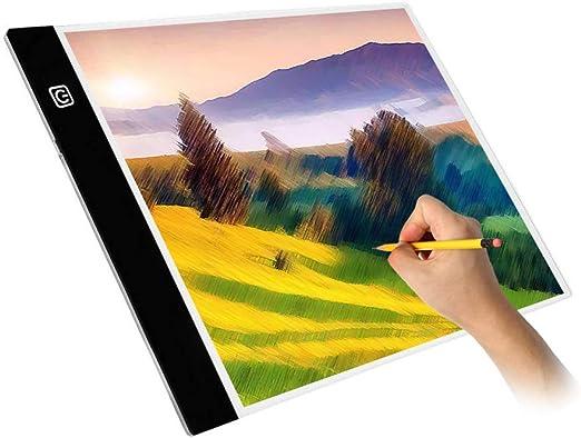 Dightyoho Mesa de Luz A4 de Dibujo para Niños, Almohadilla de Luz ...