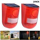 2 Pack Solar Strobe Lights Motion Sensor Security