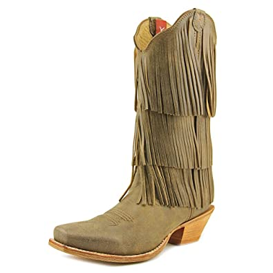 Women's Fringe Steppin' Out Cowgirl Boot Square Toe - Wso0017