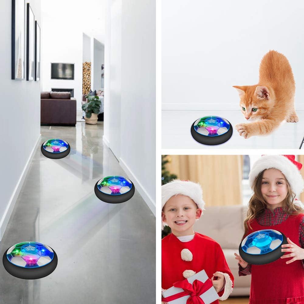Geschenke f/ür Jungen und M/ädchen wiederaufladbar Geburtstag 9 Spielzeug f/ür Kinder Weihnachten 7 mit LED-Lichtern 6 5 3 10 Jahre 4 Baztoy Schwimmender Fu/ßball 8 f/ür den Innenbereich