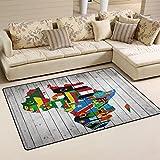 WellLee Area Rug,Africa Continent Flag Map Wood Floor Rug Non-Slip Doormat for Living Dining Dorm Room Bedroom Decor 31x20 inch