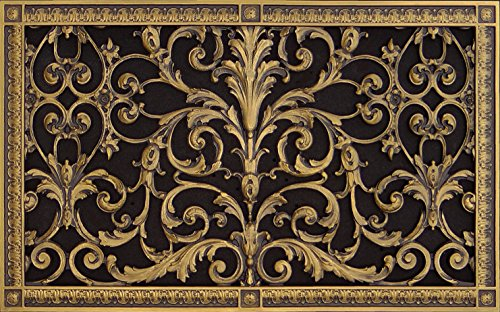 - Decorative Vent Cover, Grille, Made of Urethane Resin in Louis XIV, French Style fits Over a 14