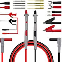 Blesiya 20 in 1 Electronic Test Leads Kit, Digital Multimeter Leads with Alligator Clips, Replaceable Probes Tips…
