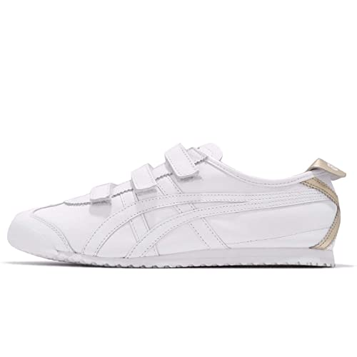 sports shoes 85a40 403f5 ASICS Men's Onitsuka Tiger Mexico 66 Baja, White/Gold, 25.5 ...