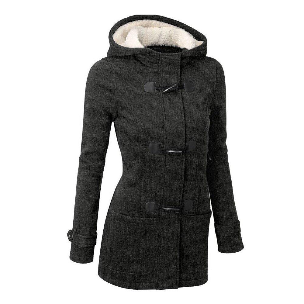 Bestfort Damen Warm Plus Samt Mantel mit Kaputze Jacke Baumwolle Hoody Im Fr¨¹hjahr und im Herbst
