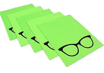 5 x de microfibra gafas de limpieza verde - - gafas de sol ...