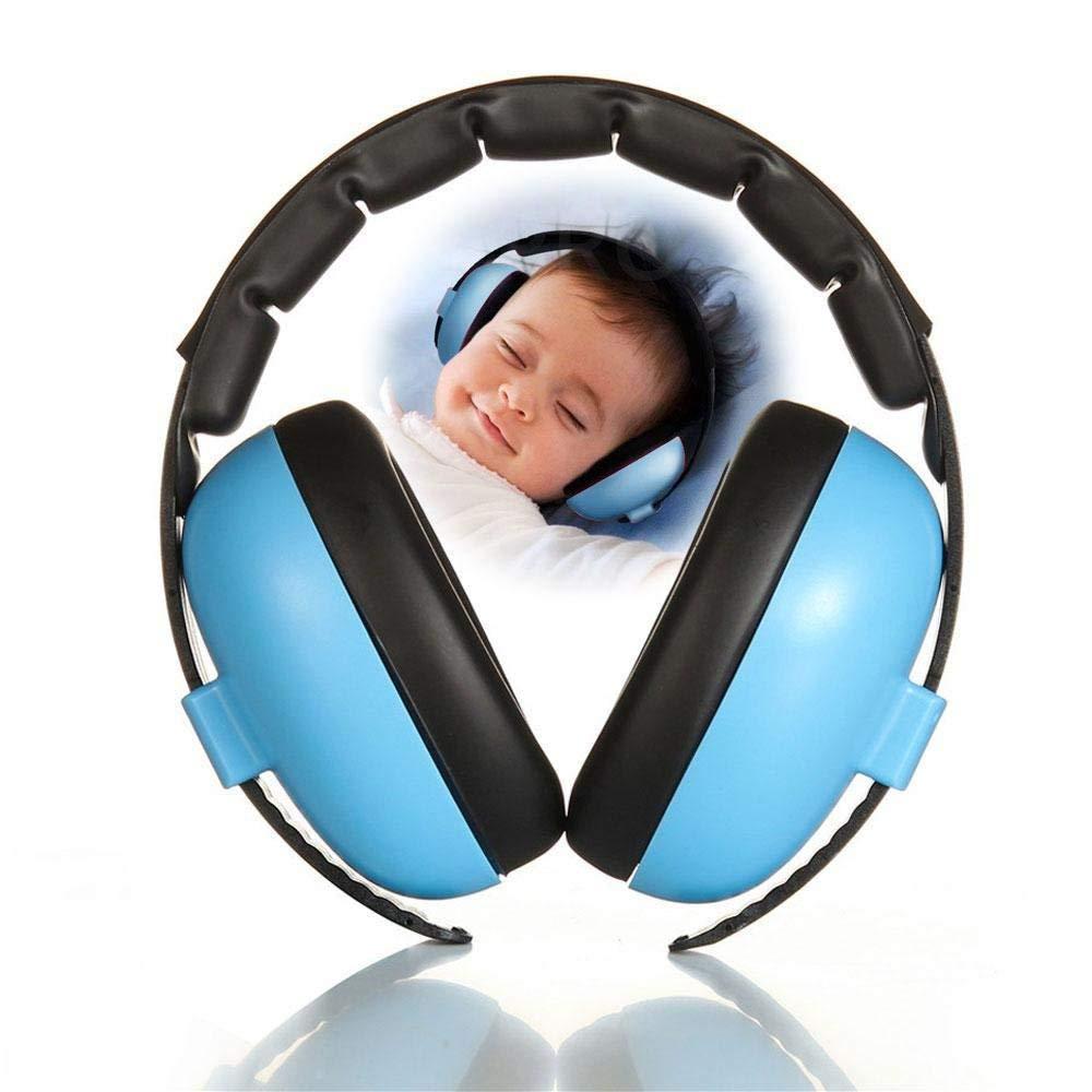 Teabelle Auriculares de Bebé Protección para los Oídos del Bebé Cancelación de Ruido Headphones NRR 30dB Ajustable y Suave y Seguridad del Oído del Bebé Muff para 6 Meses a 6 Años (Azul)
