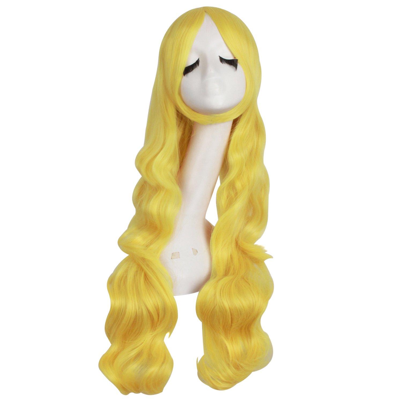 MapofBeauty 32 80cm Dark Purple Long Hair Curly Wavy Wig Cosplay Costume Wig
