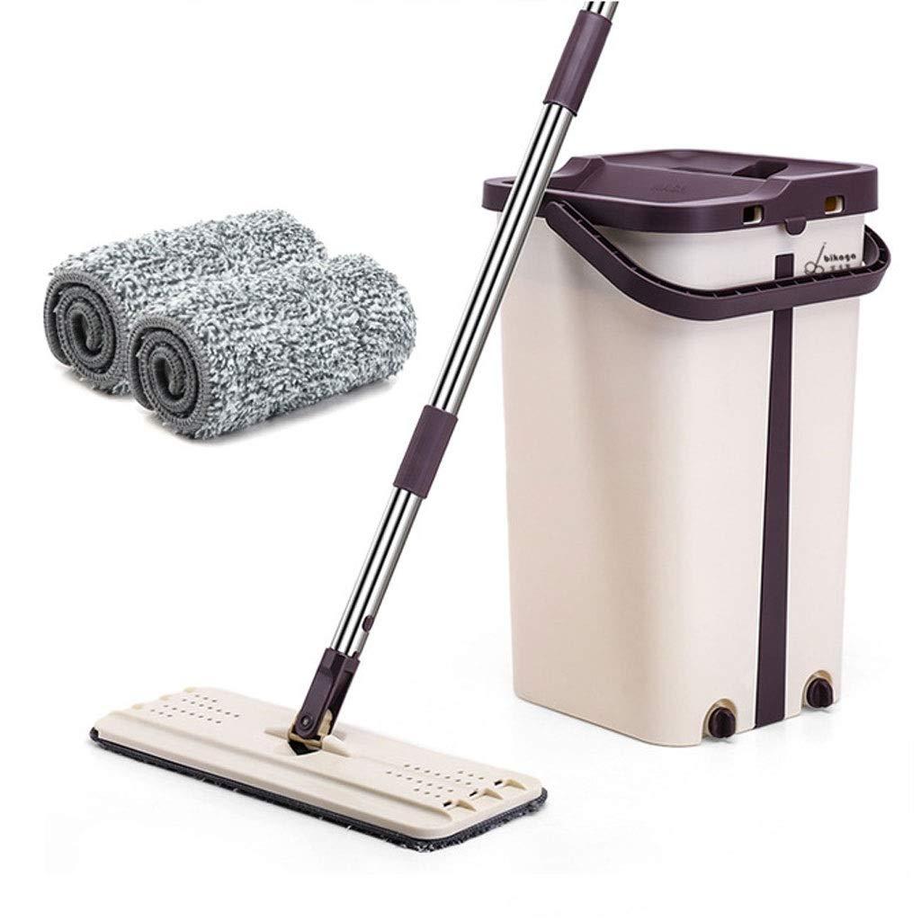 ZXW モップ - フラットモップ、家庭用ウェットおよびドライハンズフリー洗濯の長期化と増加 (色 : Brown, サイズ さいず : 20x20x40cm) B07P1Y6DH8 Brown 20x20x40cm