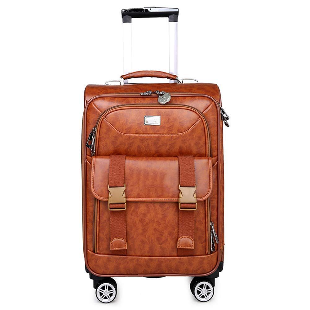 荷物スーツケース、ヴィンテージワニ革PUレザースーツケース、22インチ多層カジュアルビジネススーツケース、短期旅行に適した、出張用スーツケース,B B07T3SV7P2 B