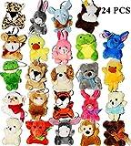 #8: Joyin Toy 24 Pack of Mini Animal Plush Toy Assortment (24 units 3