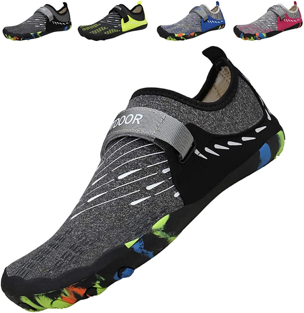 Barefoot Running Shoes Water Shoes Beach Shoes Womens Mens Barefoot Aqua Shoes Swim Shoes for Beach Boating Fishing Yoga Diving Surfing Jogging Fitness with Quick Dry