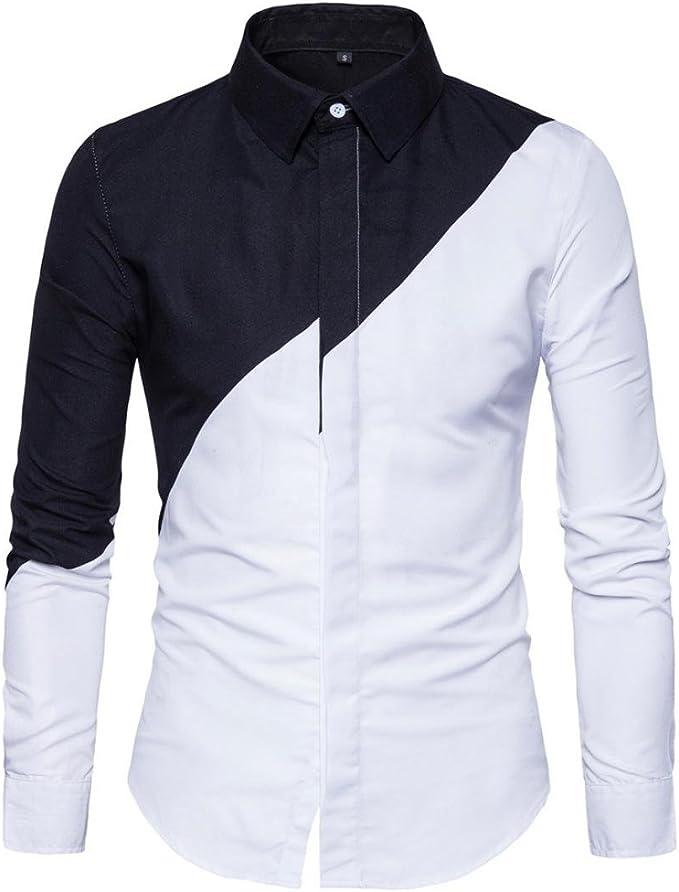 FAMILIZO Camisas Hombre Manga Larga Slim Fit Camisas Hombre Lino Camisas Hombre Originales Negocio Tops Blusa Hombre Blanca Otoño Moda Business Casual Formal Slim Button-Down Ajustado: Amazon.es: Ropa y accesorios