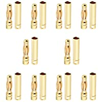 10 Pairs HobbyPark Female Male 4mm 4.0mm Gold Bullet Connectors Plugs for RC Lipo Battery Pack ESC Motor Wire Plug