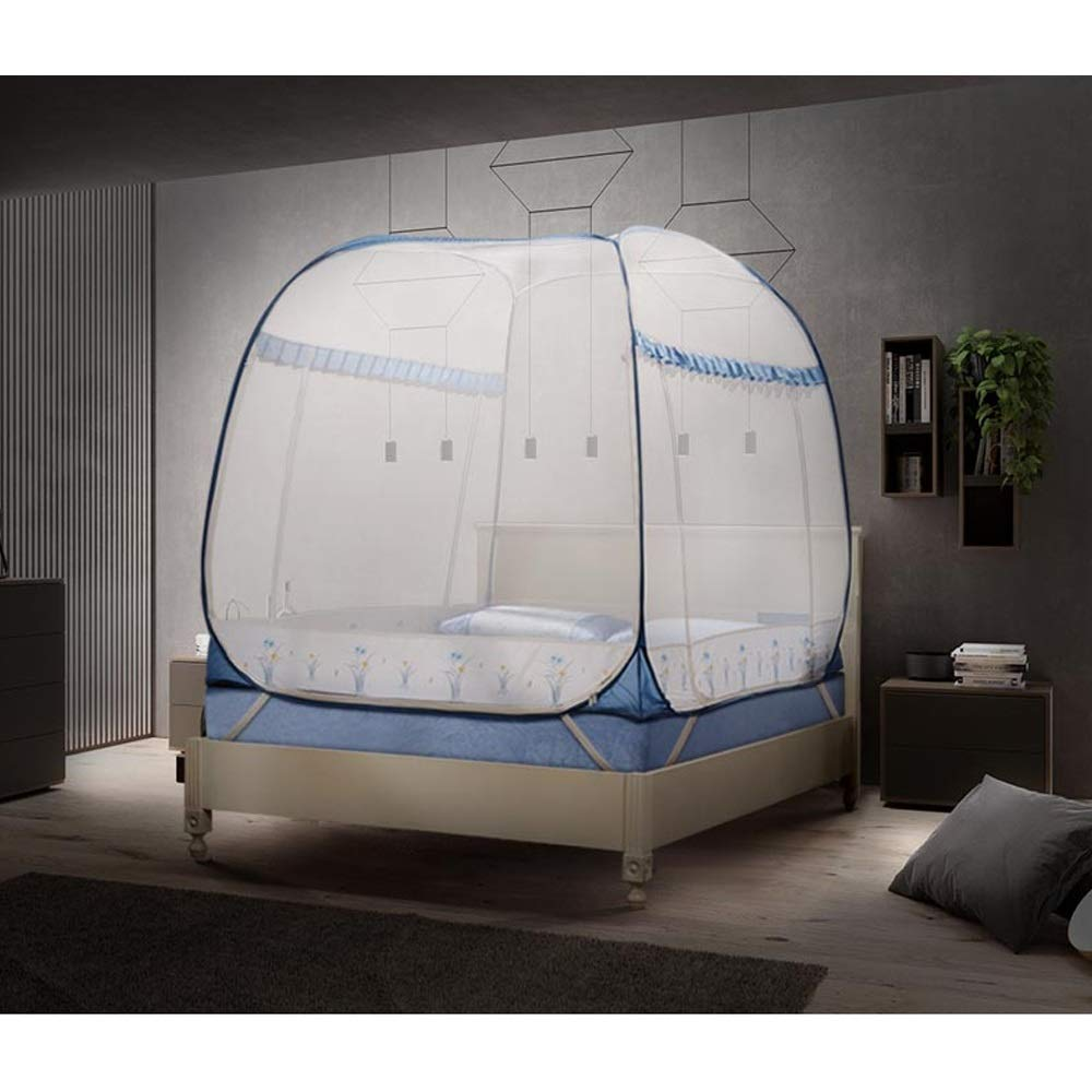 YXQ- Mosquito Net - Yurt Type Does Not Installation Require Three-Door Encryption Padded Mosquito Net - Size: Suitable for 5 Foot Bed, for 6 Foot Bed Mosquito net (Size : Suitable for a 6 Foot Bed) by YXQ- (Image #2)