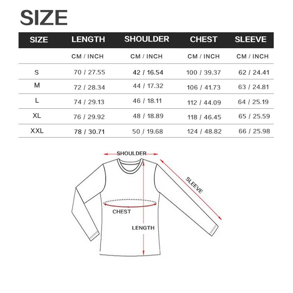 Shirt Slim Fit Casual Letter Digital Printing Long Sleeve Tops Unique Pattern,B,L
