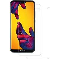 POOPHUNS 2 Pezzi Huawei P20 Lite Pellicola Protettiva Vetro Temperato, Huawei P20 Lite Protezione Schermo Trasparente Ultra Resistente, Anti-Graffi, Anti-Impronte