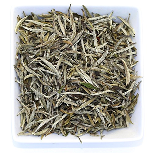 [Tealyra - Luxury Young Silver Needle Loose Leaf Tea Leaves - Organically Grown in Fujian, China - Superior Chinese White Tea - Caffeine Level Low (2oz / 55g)] (Young Pu Erh Tea)