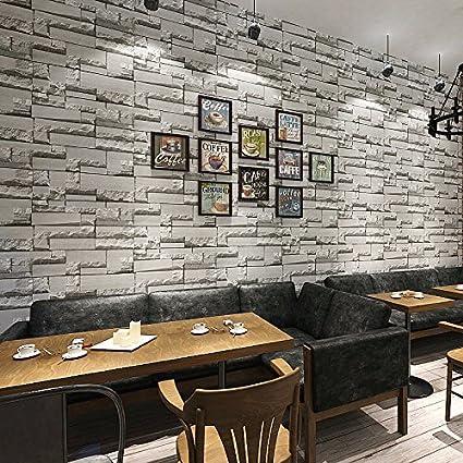 Imitation brick three dimensional retro bricks brick wallpaper hair salons clothing