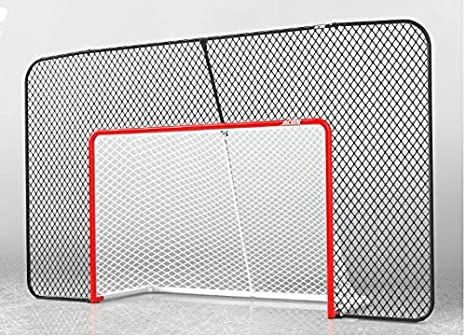 Acon Wave Hockey Combo | Includes Official Size Hockey Goal, Hockey Net and Rectangular Backstop Net