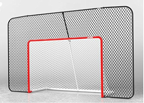 Acon Wave Hockey Combo | Includes Official Size Hockey Goal, Hockey Net and Rectangular Backstop Net ()