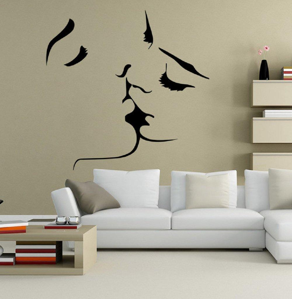 Amazon.com: 1MATCH Kiss murales de pared para sala de estar ...